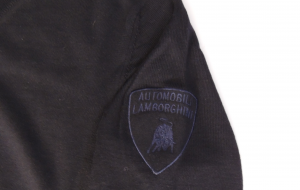 Lamborghini Basic Military Jersey Vee Neck Blue