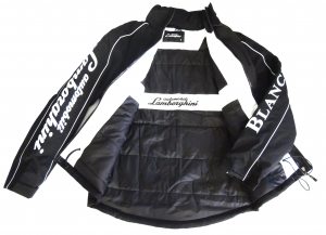 Lamborghini St Men Outerwear Zip Up Jacket Black