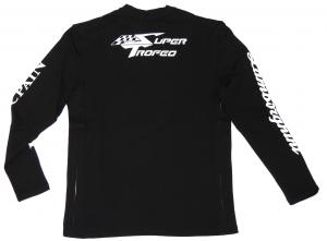 Lamborghini Men ST Long Sleeve T-shirt Black/White