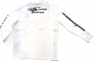 Lamborghini St Long Sleeve Men T-Shirt White