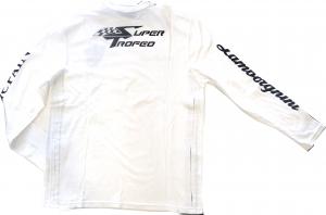 Lamborghini St Long Sleeve Men T-Shirt White