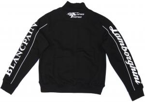 Lamborghini ST Ladies Zip Up Sweatshirt Black/White