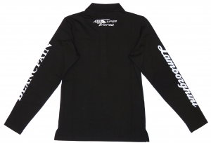 Lamborghini ST Ladies Polo Long Sleeve Black/White