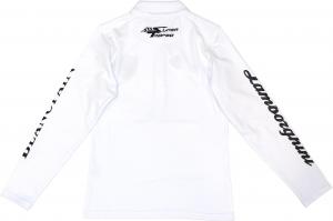 Lamborghini ST Ladies Polo Long Sleeve White/Black