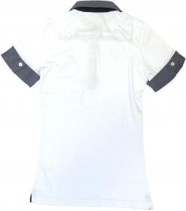 Lamborghini Ladies Cap Sleeve Jersey Stretch Polo White