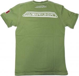 Lamborghini Men's Short Sleeve Aventador Sketch T-shirt Oil Green