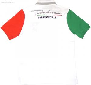 Men's Ss Tricolore Jersey Polo White