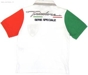 Lamborghini Children's SS Tricolore Jersey polo White