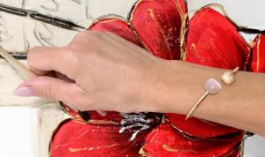 Morellato Bracciale Gemma (Rigido, Cristalli Occhio di Gatto Champagne, pvd Oro rosa)