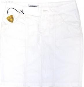 Lamborghini Ladies Popeline Skirt White