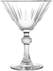 Set 6 Coppe Martini Diamond in vetro cl 23,8 cm.15h diam.11
