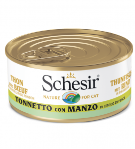 Schesir Cat - In Brodo di cottura - 70g x 6 lattine