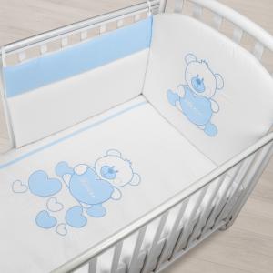 Completo Piumone Lettino Baby Bear Azzurro related image