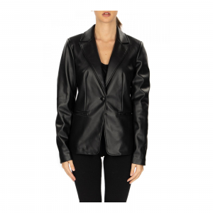GIACCA BLAZER IN SIMILPELLE