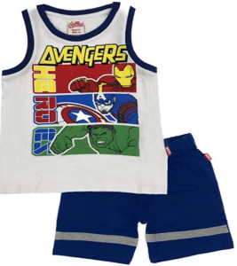 Completo Avengers Canotta + Pantaloncini misura 3 4 5 6 7 anni