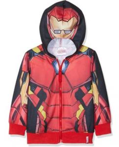 Felpa Iron Man misure da 4 a 10 anni