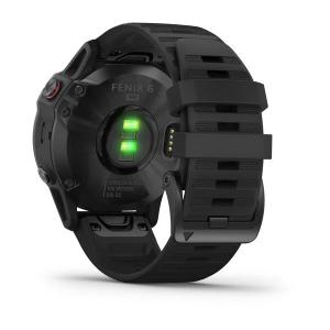 Garmin - fenix 6X PRO Sapphire, Lunetta Carbon Gray DLC con Black Band