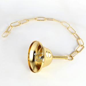 Kit catena rosone sospensione lampada lampadario oro