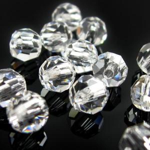 Perla 12 mm sfaccettata cristallo -Asfour 1502-