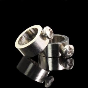 Anellino fermarosetta F10,5 mm galvanica nikel con vite M3