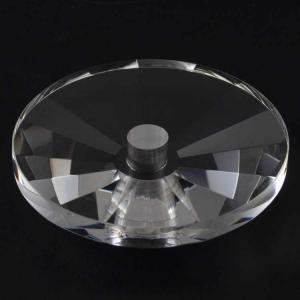 Bobeche per lampadari in cristallo molato 100x20 mm, foro Ø12 mm