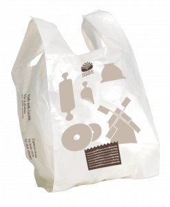 Mini shopper personalizzabile formato shopper: 22+6+6x42 cm.