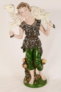 Presepe in ceramica 8 pz h 60 cm