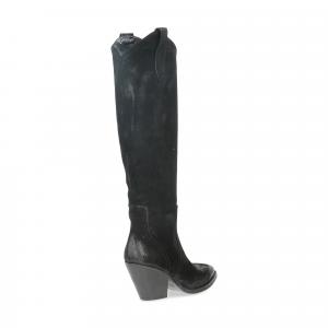 Curiosite Stivale texano TX9 camoscio nero-5