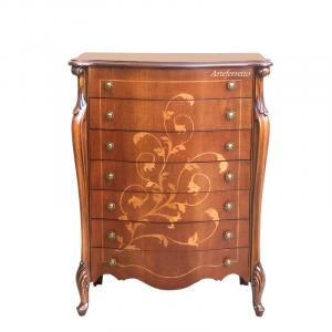 Floral inlay dresser