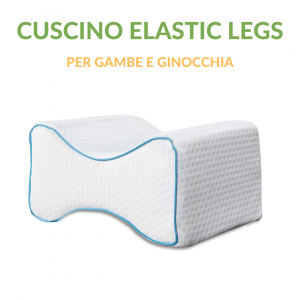 Cuscino per Gambe e Ginocchia Elastic Legs in Memory Foam utile per risolvere problemi legati al sonno