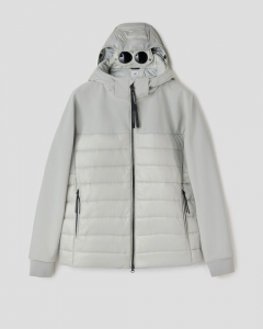 SHOPPING ON LINE CP COMPANY JACKET C.P. SHELL MIXED PADDED GOGGLE NEW COLLECTION MEN FALL WINTER 2020/2021