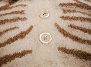 RINASCIMENTO Maglia cardigan CFM0009890 fantasia zebrata