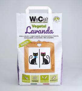 WeCat - Lettiera vegetale e agglomerante 7 litri
