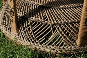 Poltrona vintage in rattan