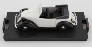Fiat 1100e 508c. Cabriolet Aperto 1937 Bianco Nero 1/43 100% Made In Italy
