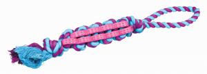 Trixie - Denta Fun - Treccia Cotone e Gomma - 37cm