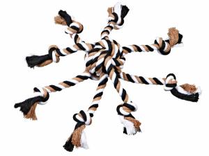 Trixie - Corda Gioco - Palla Intrecciata e Tentacoli - ø7cm