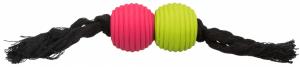 Trixie - Corda gioco con Palline - 32cm