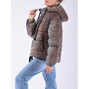 Giacca F**K W Piumino Leopard