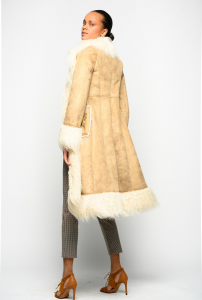 SHOPPING ON LINE PINKO CAPPOTTO LUNGO IN SUEDE E FAUX FUR MONTONE CROMOSFERA NEW COLLECTION WOMEN'S FALL WINTER 2020/2021