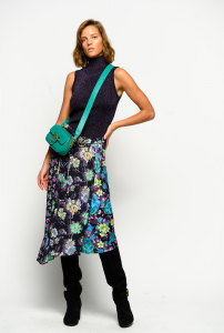 SHOPPING ON LINE PINKO GONNA PATCH DI FIORI FOTOSFERA NEW COLLECTION WOMEN'S FALL WINTER 2020/2021