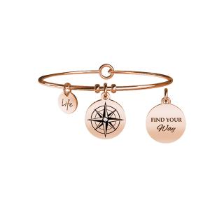 Bracciale Donna Symbols ROSA DEI VENTI   DIREZIONE