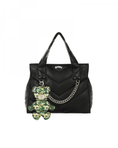 SHOPPING ON LINE LE PANDORINE BUBI BAG BLACK TATO MILITARY CAMOUFLAGE NEW COLLECTION WOMEN'S FALL WINTER 2020/2021