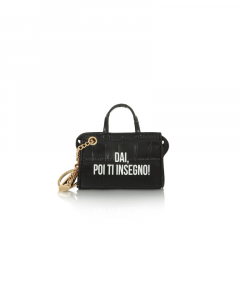 SHOPPING ON LINE LE PANDORINE TAG MINI BAG INSEGNO BLACK NEW COLLECTION WOMEN'S FALL WINTER 2020/2021