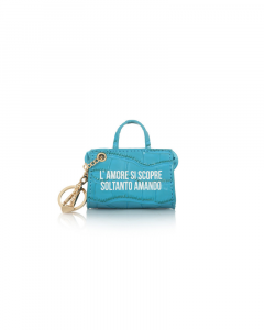 SHOPPING ON LINE LE PANDORINE TAG MINI BAG AMORE PETROLEUM NEW COLLECTION WOMEN'S FALL WINTER 2020/2021