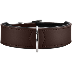 Hunter - Collare Basic in crosta di pelle rivestita 65/L