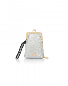 SHOPPING ON LINE LE PANDORINE PHONE BAG BUONGIORNO SILVER NEW COLLECTION WOMEN'S FALL WINTER 2020/2021