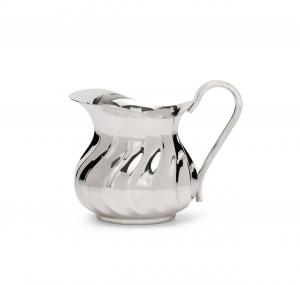 Lattiera argentata argento stile torciglione