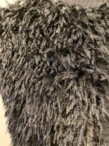 ECO FASHION D68274 Giacchino maniche lunghe con piume sintetiche