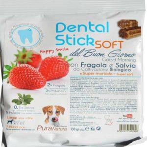 DENTAL-STICK SOFT FRAGOLA E SALVIA 100Gr - MELA E CAMOMILLA DALLA GRANA